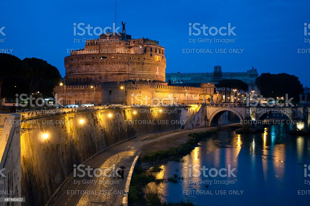 Mausoleum of Hadrian, Rome, Italy stock photo