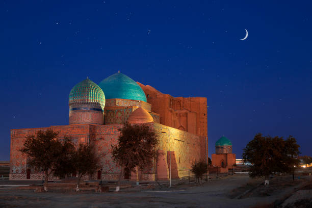 Mausoleum of Khoja Ahmed Yasawi, Turkestan, Kazakhstan. stock photo