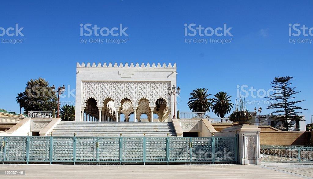 mausoleum of mohamed v royalty-free stock photo