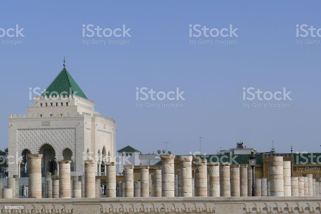 ضريح محمد الخامس) is a mausoleum located on the opposite side of...