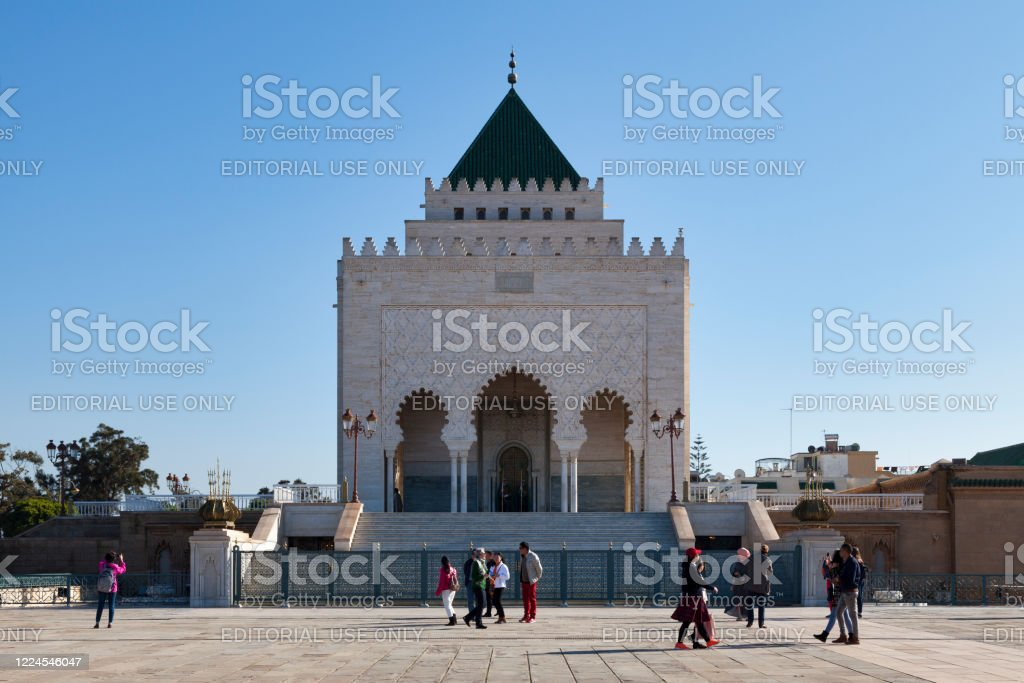 Mausoleum of Mohammed V in Rabat - Royalty-free Architecture Stock Photo
