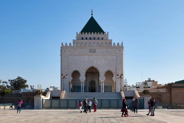 Mausoleum of Mohammed V in Rabat stock photo