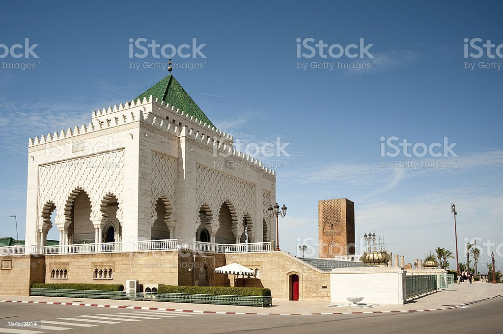 Mausoleum of Mohammed V stock photo