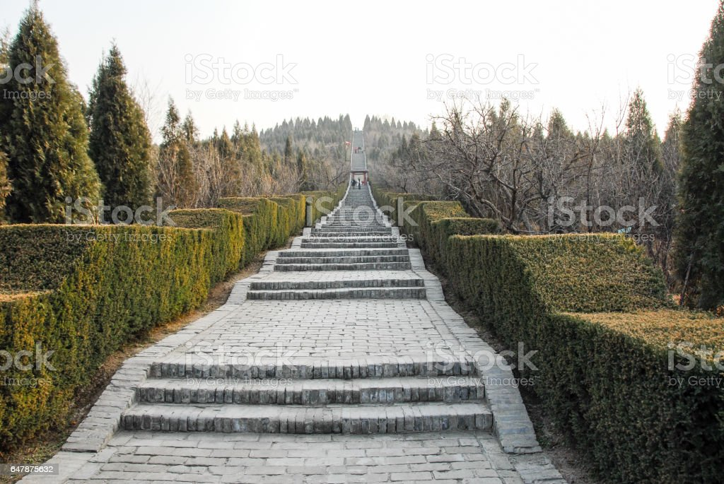 Mausoleum of the First Qin Emperor in Xian, China stock photo