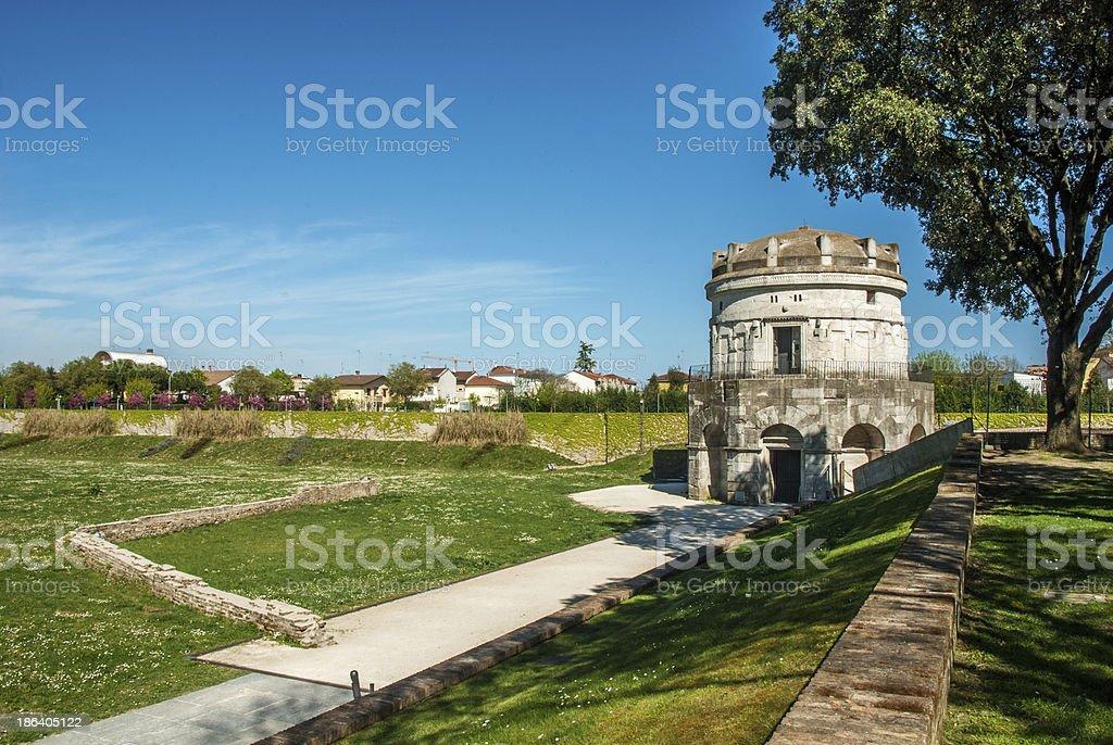 Mausoleum of Theodoric stock photo