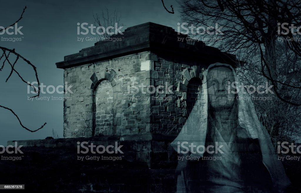 Mausoleum Tomb Ghost stock photo