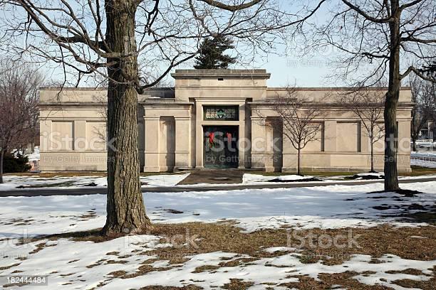 Photo of Mausoleum With Christmas Evergreens