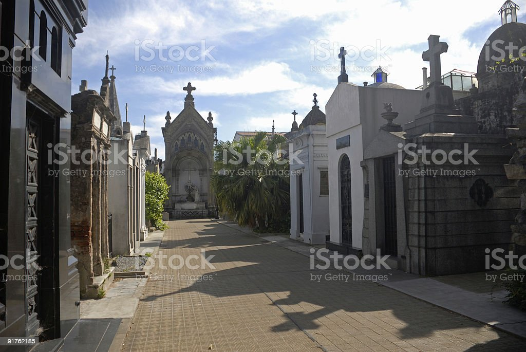 Mausoleums. Recoleta Cemetary, Buenos Aires. Argentina. stock photo