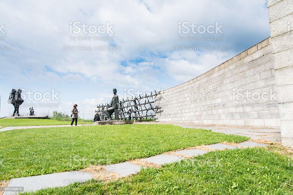 Mauthausen camp stock photo