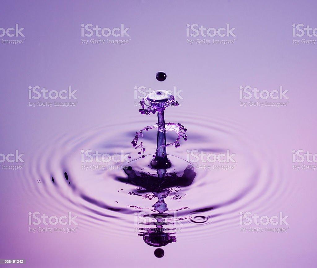 Mauve Fountain stock photo