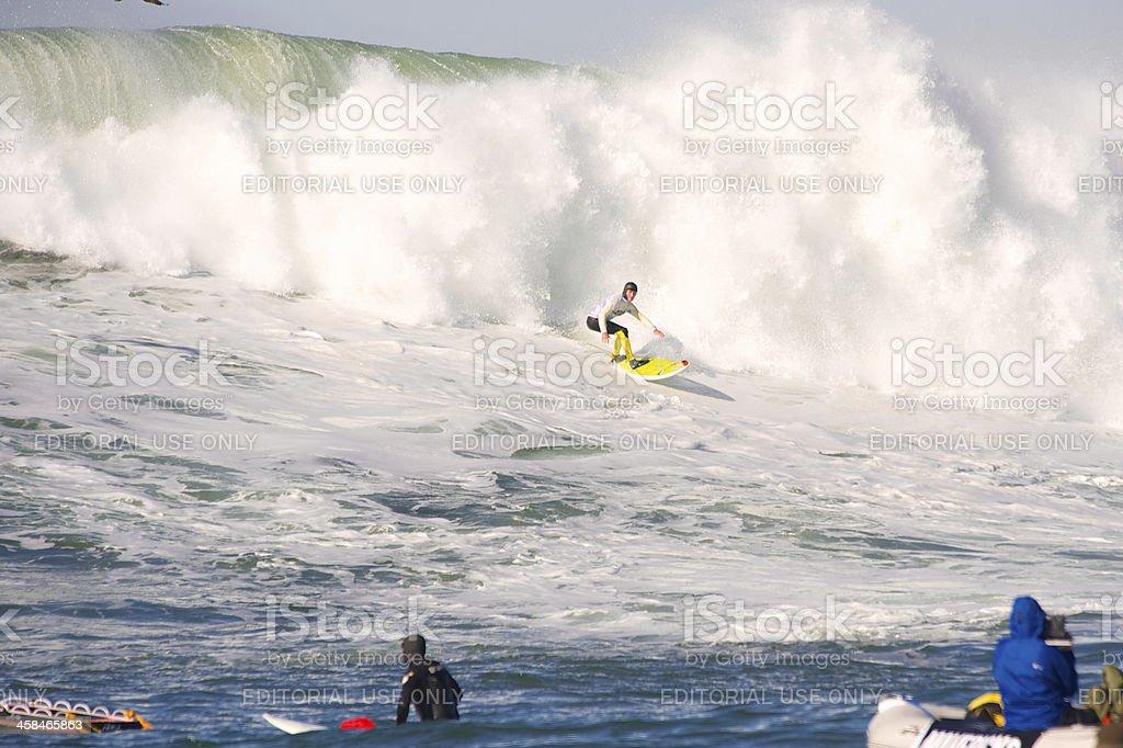 Maverick Invitational Surfing contest royalty-free stock photo