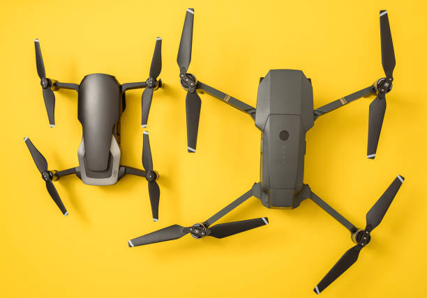 DJI Mavic Air and Mavic Pro drones stock photo