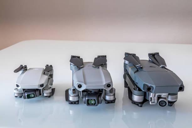 DJI Mavic Drohnenfamilie im Vergleich. – Foto