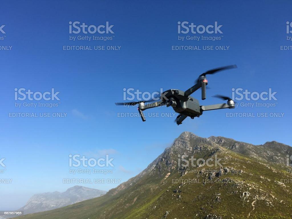 DJI Mavic Pro quadcopter flying royalty-free stock photo