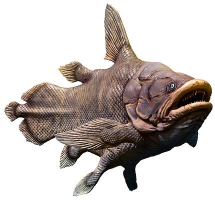 Prehistoric Mawsoniar 3D illustration