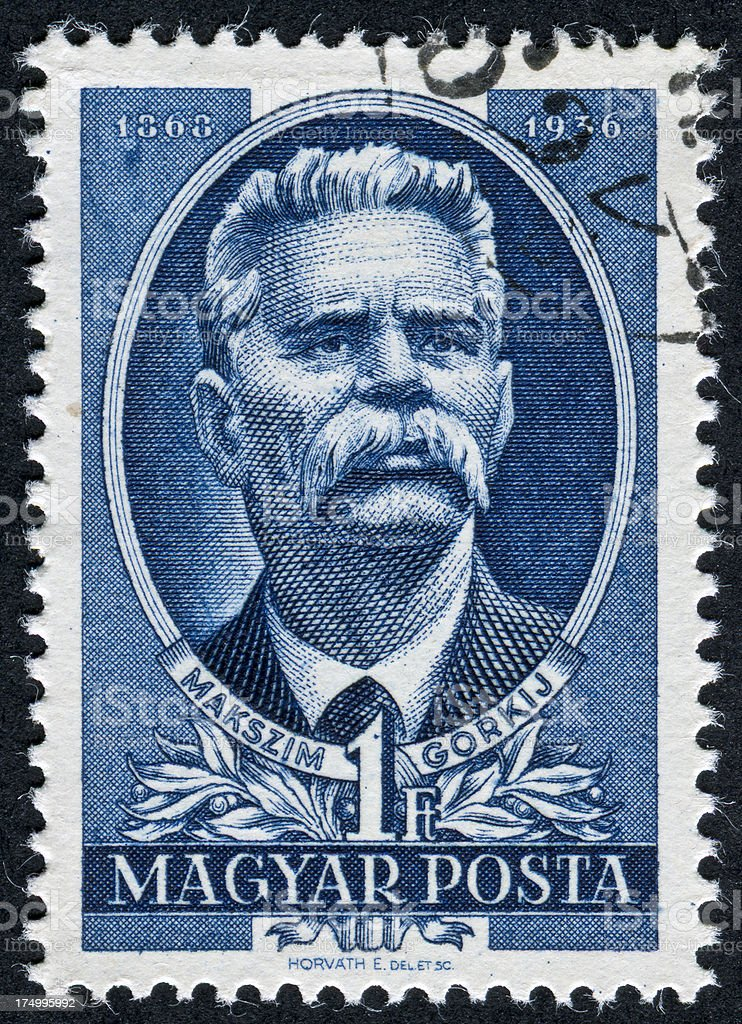 Maxim Gorky Stamp royalty-free stock photo