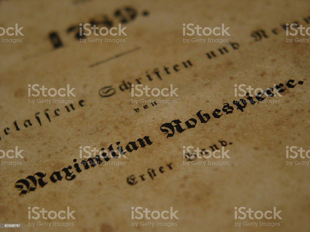 Maximilian Robespierre royalty-free stock photo