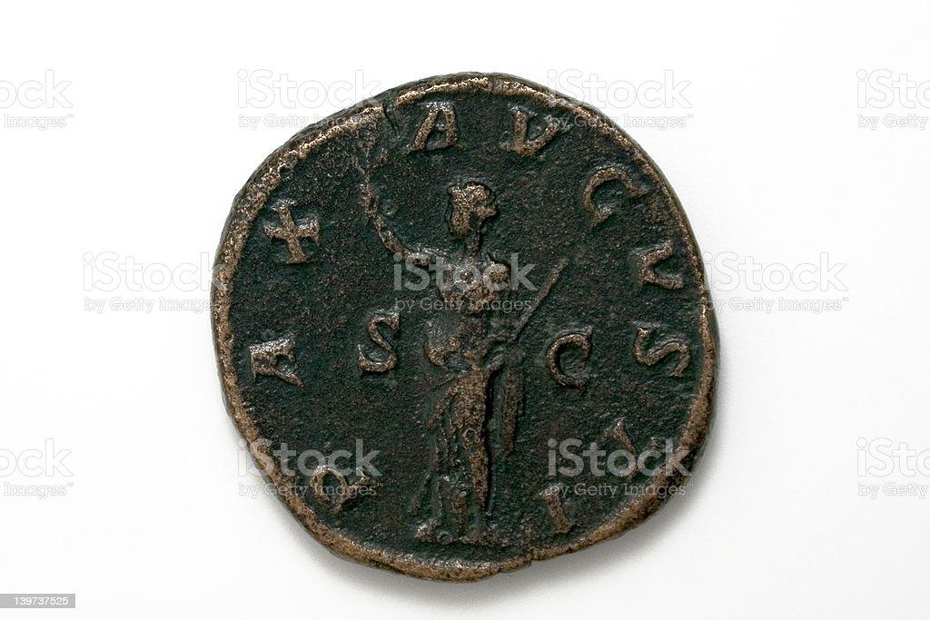 Maximinus roman coin, reverse stock photo