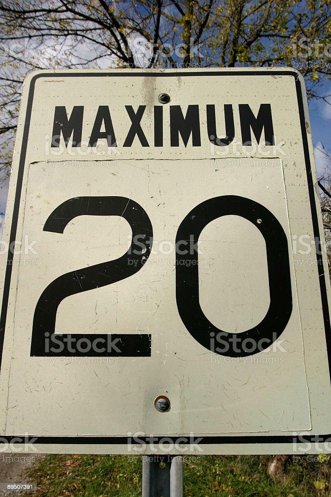 Maximum 20 royalty-free stock photo
