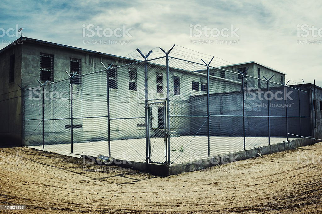 Maximum Security Prison Yard stock photo
