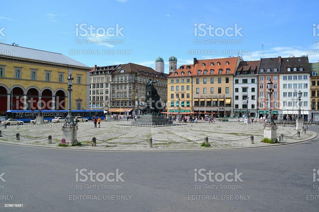 Max-Joseph Platz, Munich stock photo