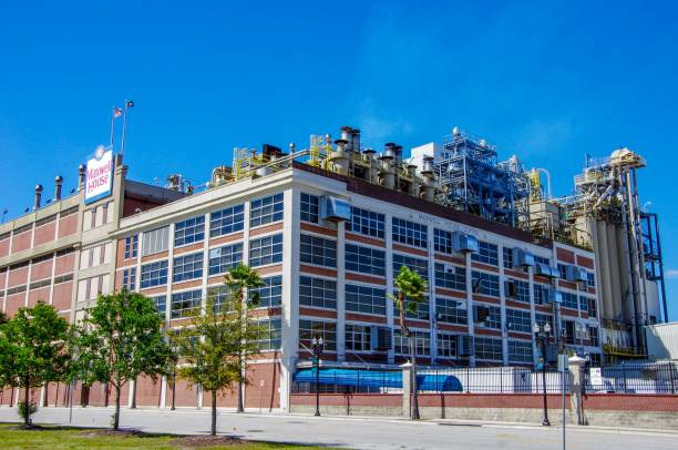 maxwell house coffee brick roasting factory - heinz stock photos and pictures