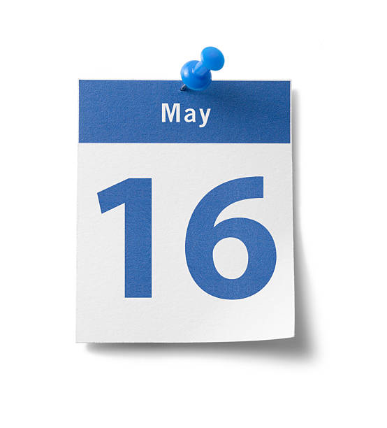 may 16th calendar - number 16 stock photos and pictures