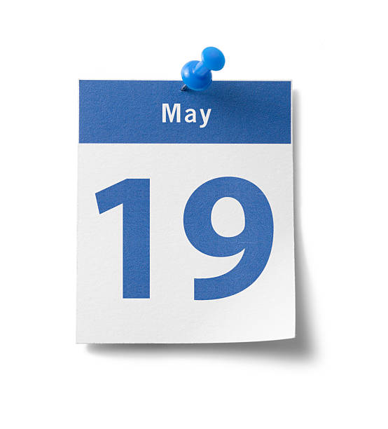 may 19th calendar - number 19 stock photos and pictures