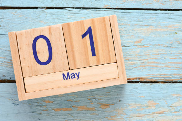 May 1st. Day 1 of month stock photo