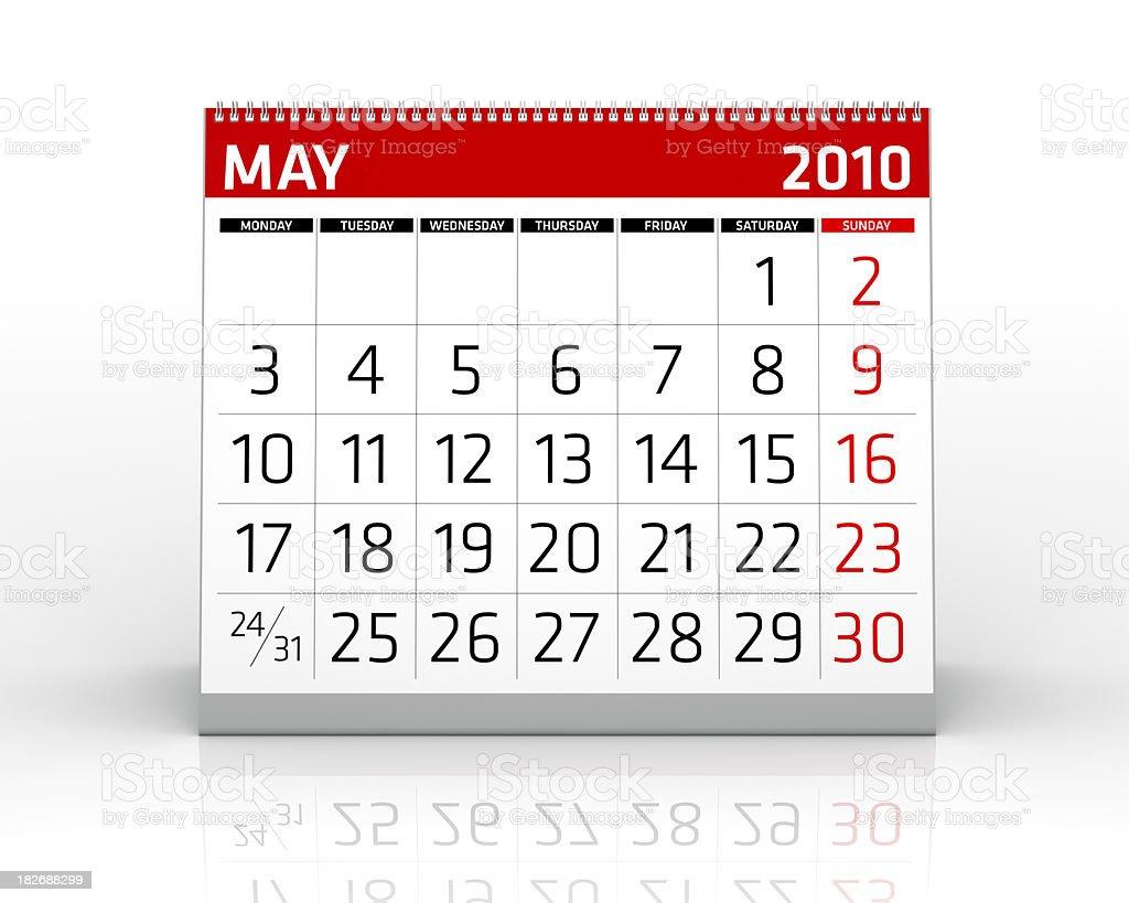 May 2010 - Calendar royalty-free stock photo