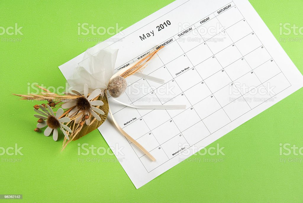 May 2010 Calendar royalty-free stock photo