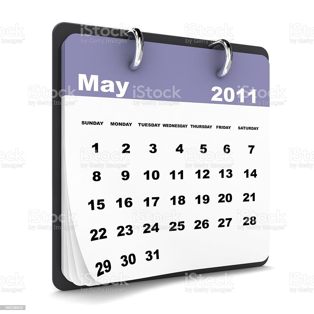 May 2011 - Calendar series royalty-free stock photo