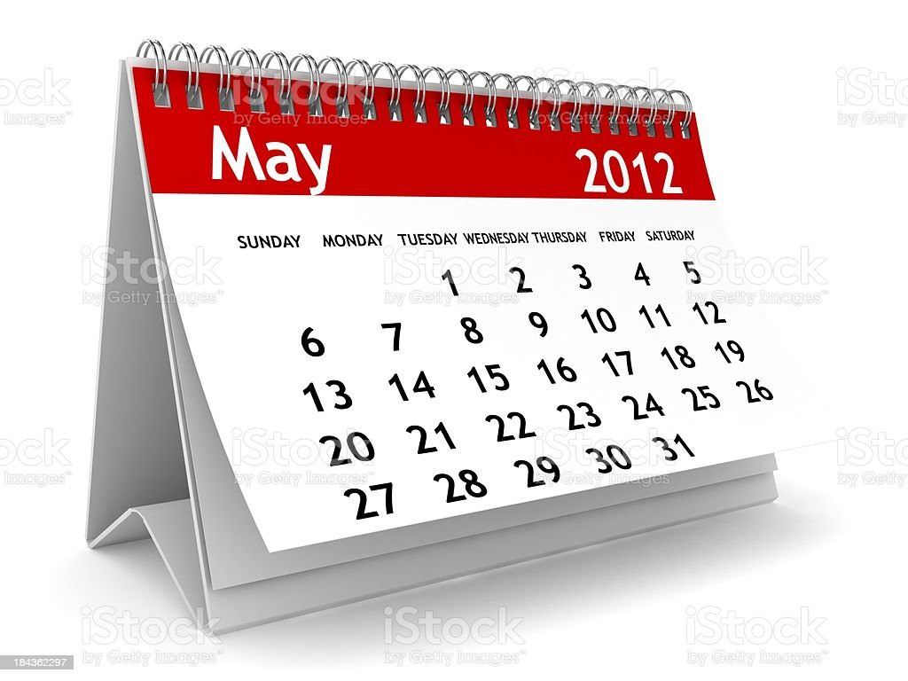 May 2012 Calendar royalty-free stock photo