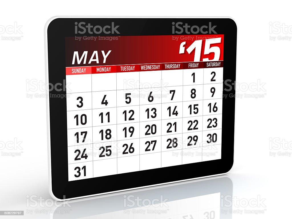 May 2015 - Calendar stock photo