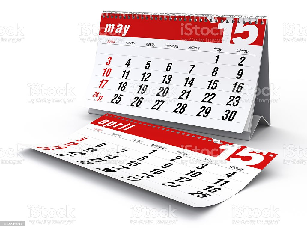 May 2015 - Calendar stock photo