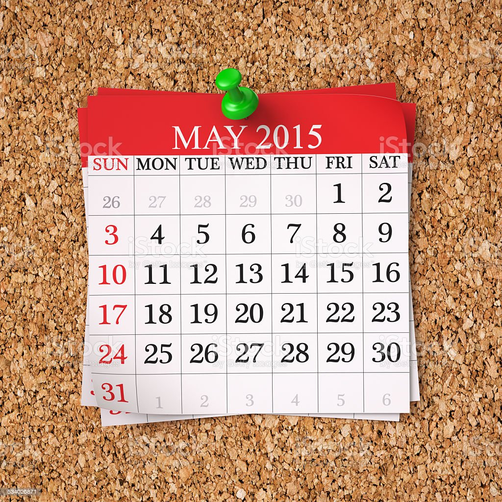 May 2015  Calendar stock photo