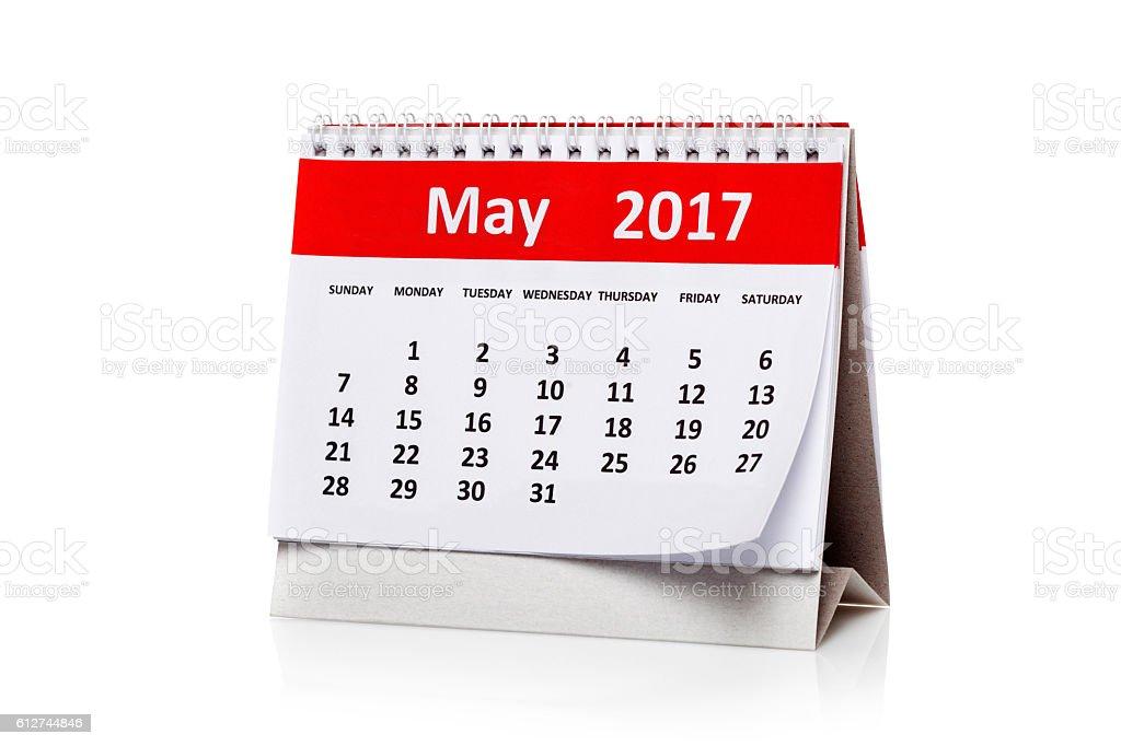 May  2017 Calendar stock photo