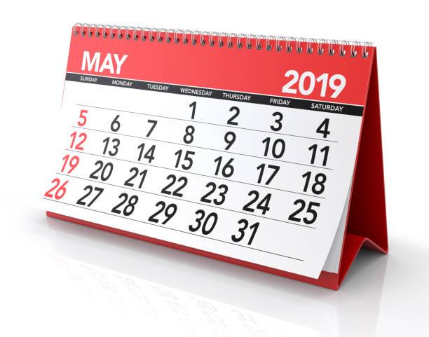 maj 2019 kalender - maj bildbanksfoton och bilder