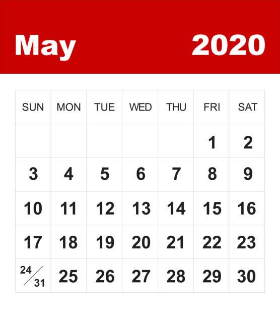 Kalenderkalender Mai 2020 – Foto