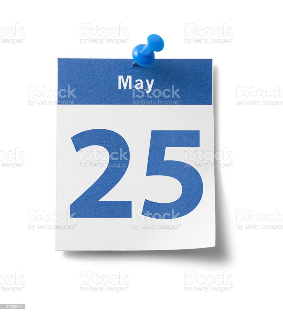 May 25th Calendar stock photo