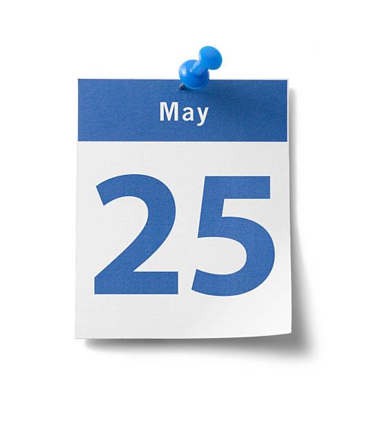 25 de mayo de calendario - foto de stock