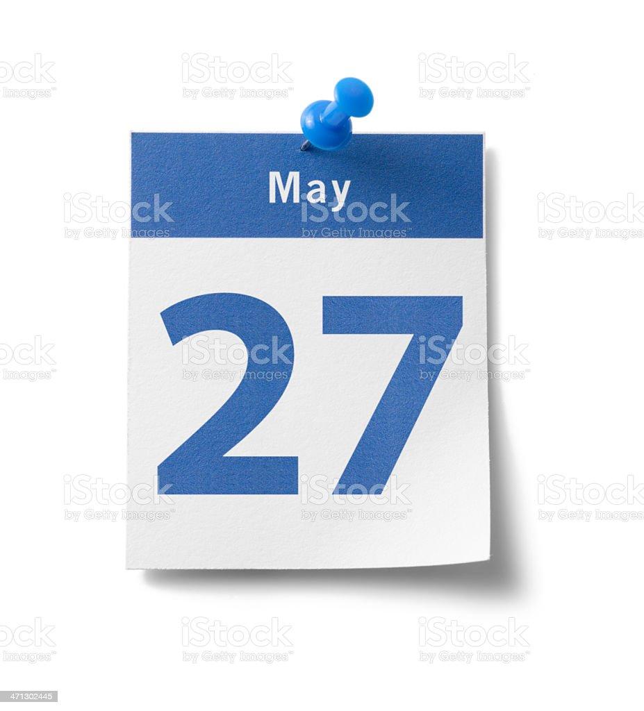 May 27th Calendar royalty-free stock photo