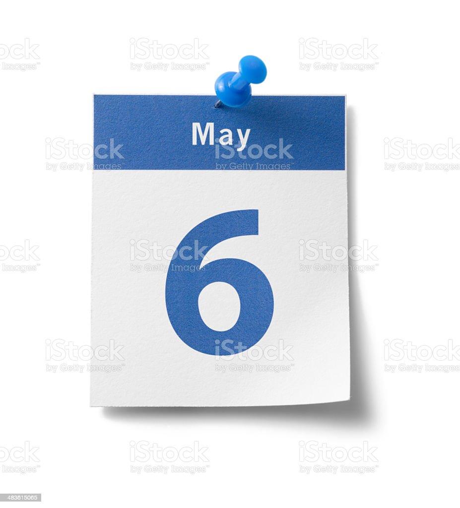 May 6th Calendar royalty-free stock photo