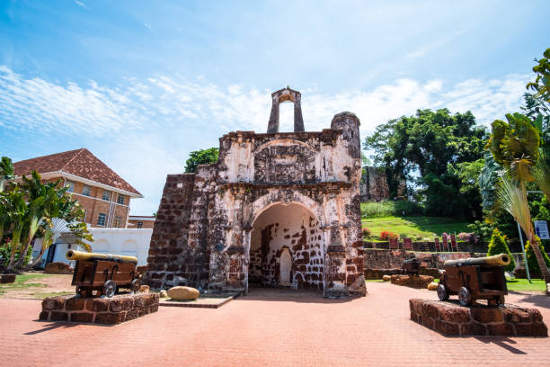 2019 May 9th, Malaysia, Melaka - View of ancient A Famosa building at the day time. stock photo