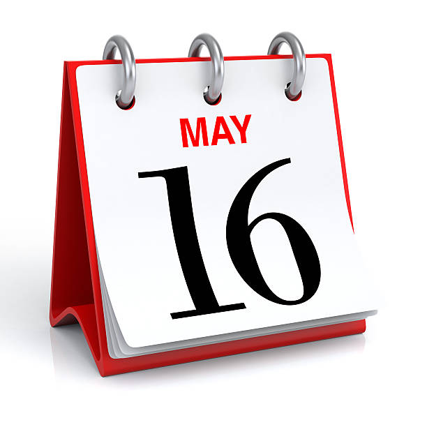 may calendar - number 16 stock photos and pictures