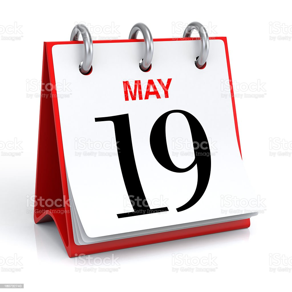 May Calendar stock photo