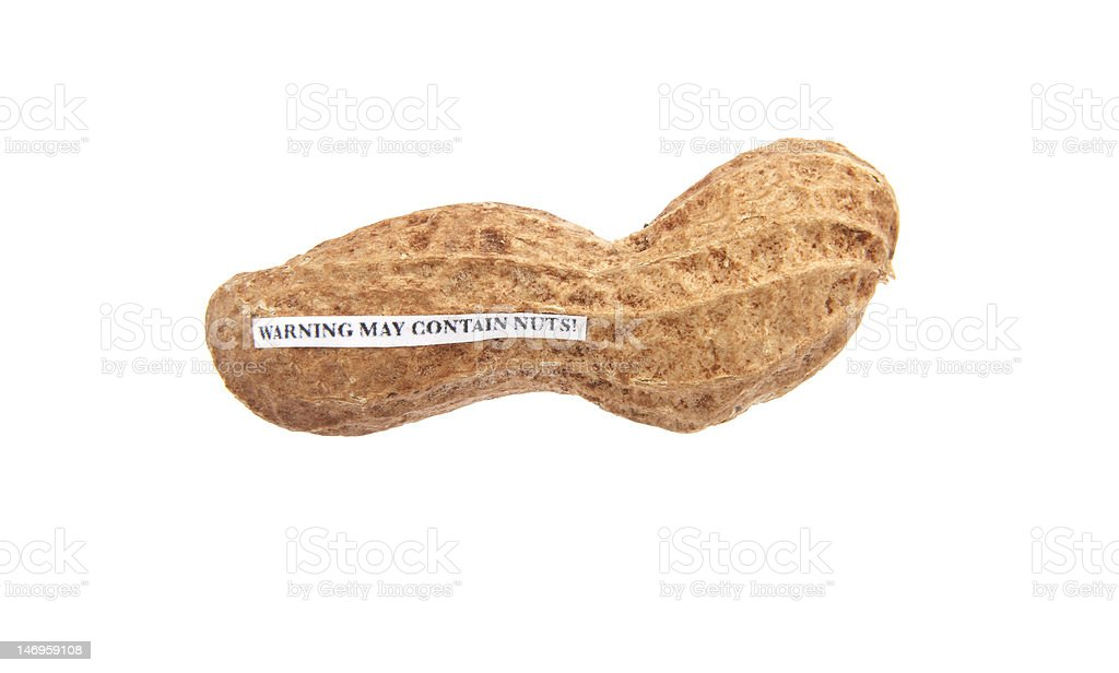 May Contain Nuts royalty-free stock photo