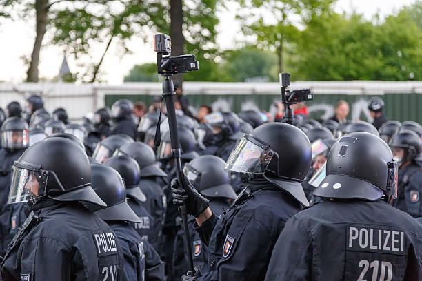 May Day 2014 in Hamburg stock photo