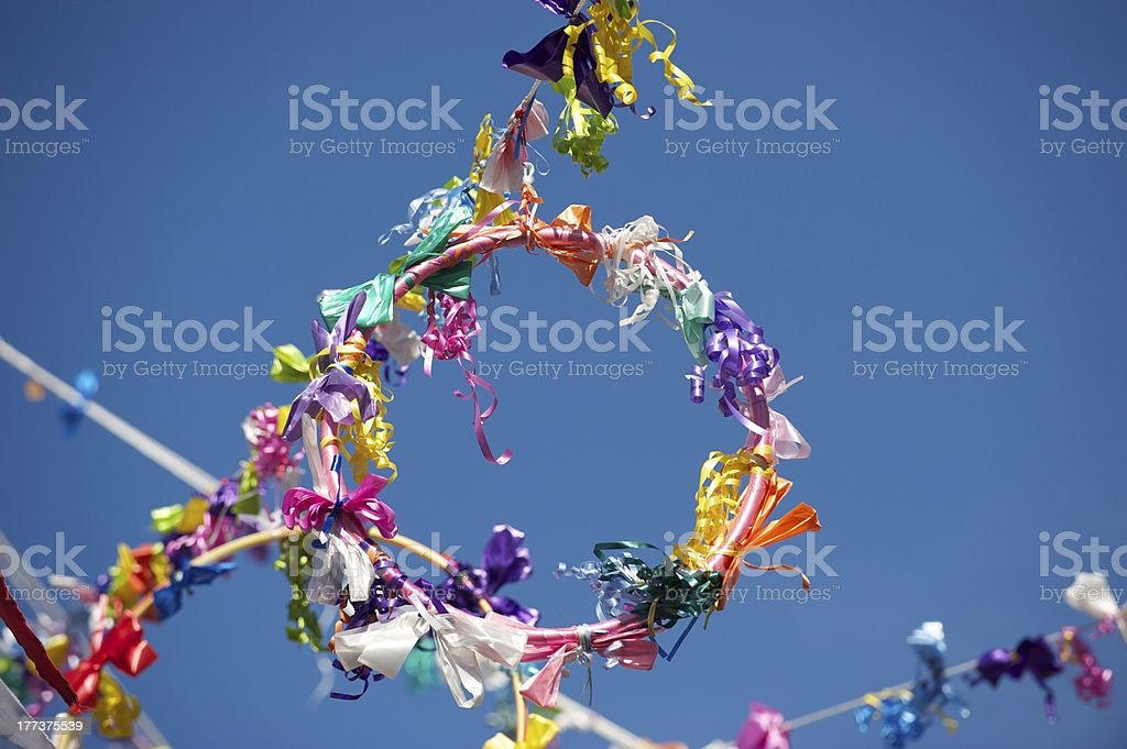 May Day decorations stock photo