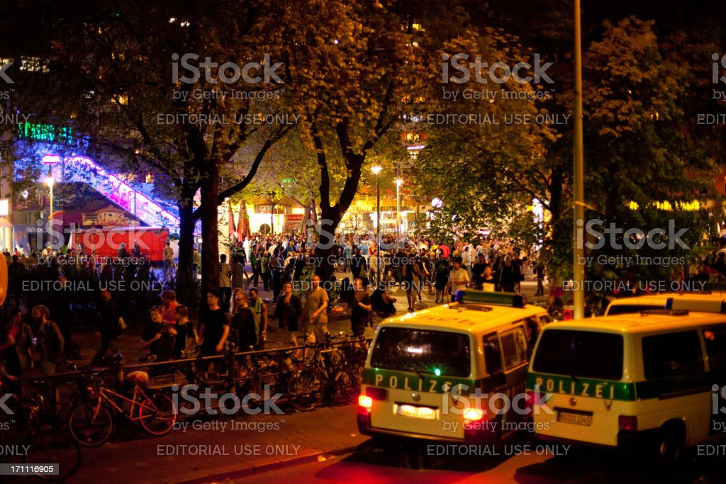 May Day Demonstrations royalty-free stock photo